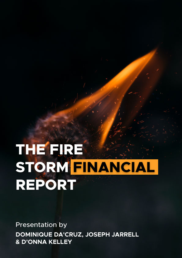The Fire Storm Financial Report