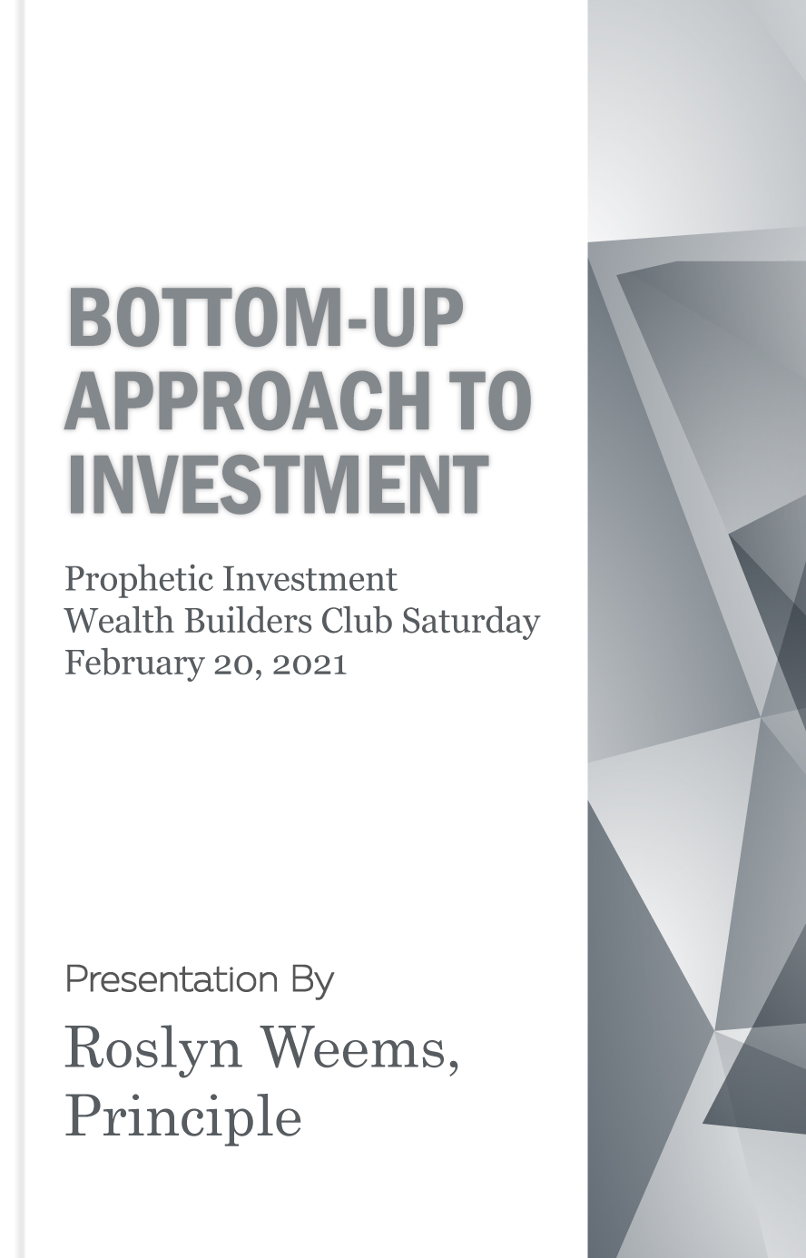 Bottom-up approach to investing (two)